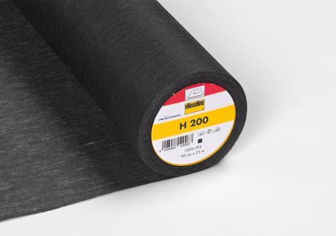 H200 Vlieseline schwarz 90cm breit