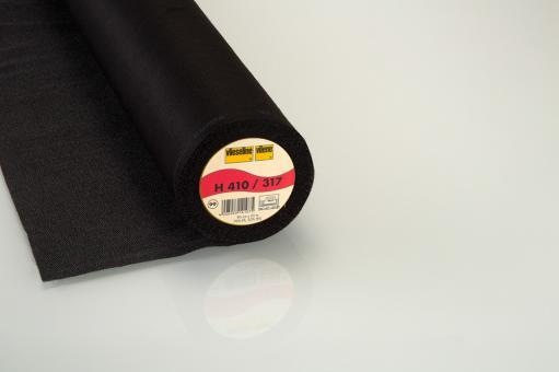 H410  90cm 25m Vlieseline schwarz
