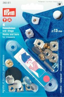 Prym NF-Hosenhaken und Stege ST 13 mm silberfarbig/brueniert