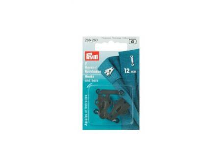 Prym Hosenhaken und Stege ST schwarz 12 mm