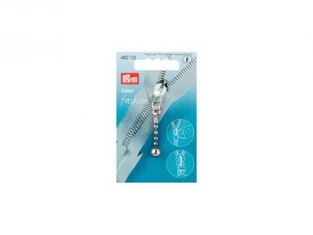 Prym Fashion-Zipper Kugelkette silberfarbig