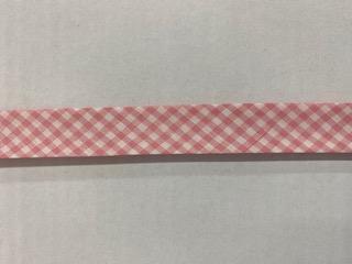 Vichy-Schrägb. rosa/weiß  20mm