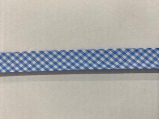 Vichy-Schrägb. hellblau/weiß  20mm