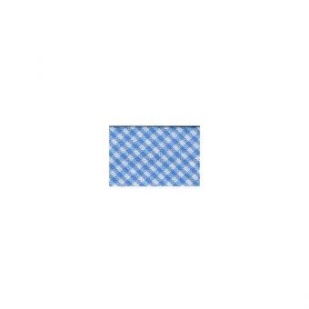 Vichy-Schrägb hellblau-weiß  20mm