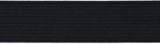 Gummiband  35mm Fb. schwarz