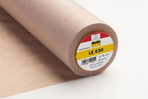 LE420 90cm  Vlieseline 0002 grafit
