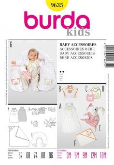 Burda 9635 Baby Accessoires