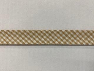 Vichy-Schrägb. beige