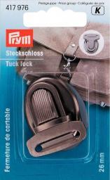 Prym Steckschloss 26 mm altsilber