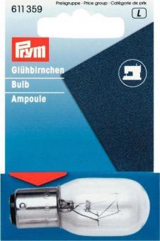 Prym Gluehlampe fuer Naehmaschine 15W Bajonett