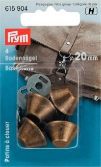 Prym Bodennaegel fuer Taschen 20 mm altmessing
