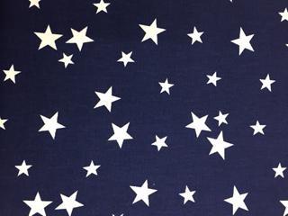 BW-Druck Sterne marine-weiß