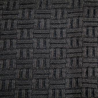 Strick-Karo schwarz