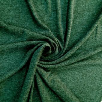 Melange-Strickjersey tannengrün