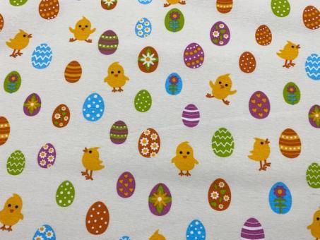 Hühnchen und Ei Dekostoffe 140cm breit