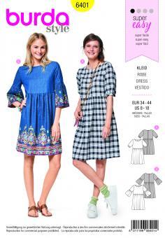 Nr. 6401Junges Kleid – eingereihter Rock – weite Ärmel