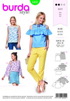 Nr. 6405 Top mit Passe - Bluse-Schulter Cut-Outs