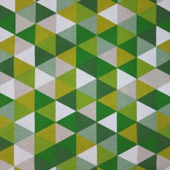 Leinendruck 140cm 3-Ecke grün-weiß