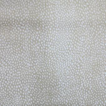 Gauze/Batistdruck Allover beige-weiß