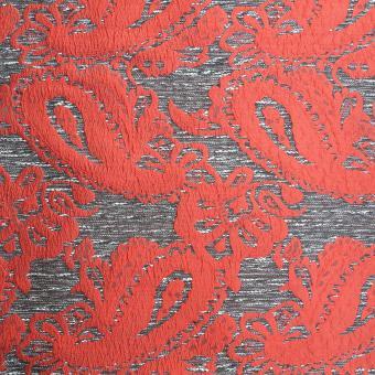 Paisley Jacquard rot-grau-weiß