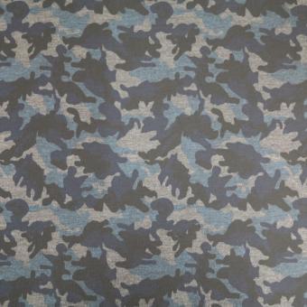 Romanitdruck Camouflage blau