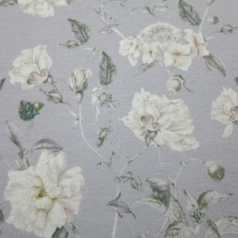 floraler Strick grau