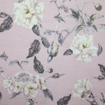 floraler Strick rosa