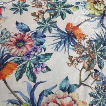 floraler Paillettenjersey creme-bunt
