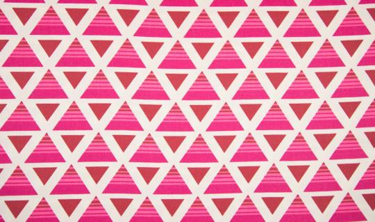 Canvas Druck Triangle pink