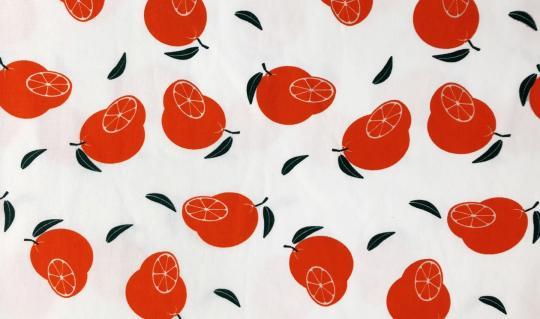 duftender Jerseydruck Orange