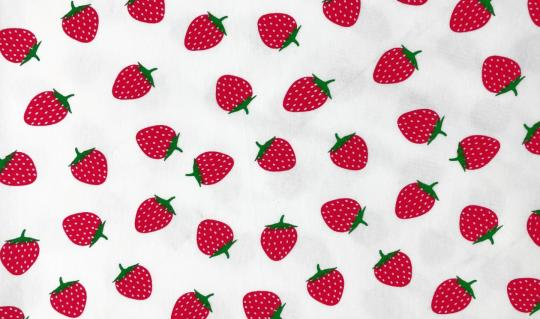 duftender Jerseydruck Erdbeere