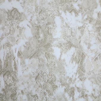 BW-Satinstrech Snakeprint beige-ecru