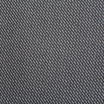 Jersey-Jacquard mit kleinem Muster schwarz-weiss