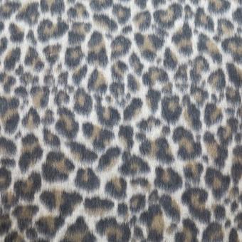 Flausch-Jacquard LEOPARD camel-schwarz