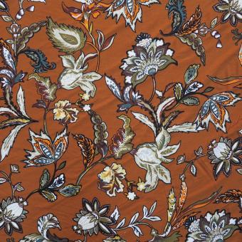 Jerseydruck Blumen rostfarben