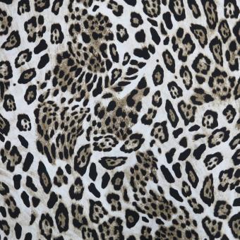 Viskose-Twill Leopard braun-beige