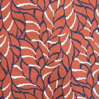 Viskose-Twill Blätter rost-marine