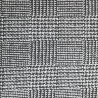 Flausch Jersey   Glencheck grau-schwarz