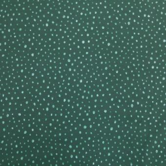 Jersey-Stretch mit Glitzer grün