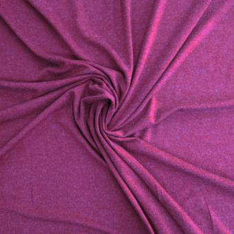 Elastic-Jersey  Melange dunkelrot