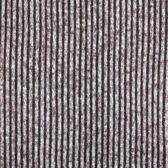 Melange-Strick Ringel weinrot-weiß