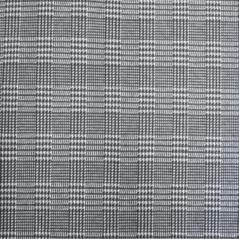 Glencheck Jersey schwarz- weiß