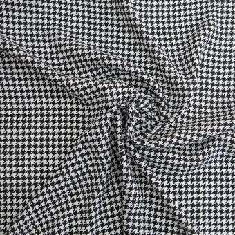 Viskosedruck Hahnentrtt schwarz- weiß