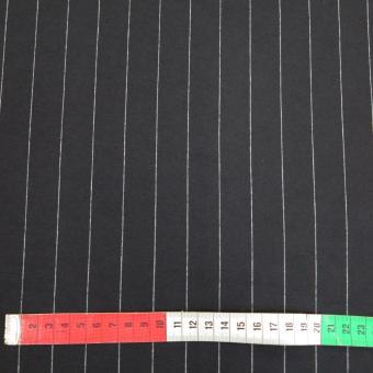 Nadelstreifen Jersey schwarz- weiß      25mm
