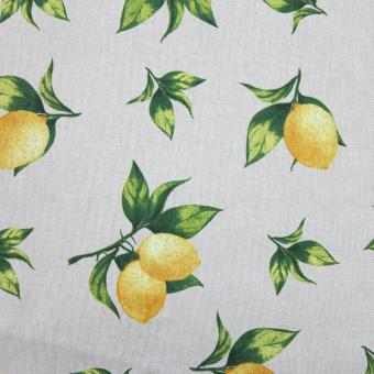 Leinendruck 140cm Zitronen