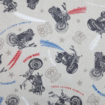 Leinendruck 140cm Motorräder