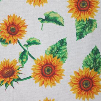 Leinendruck 140cm Sonnenblumen