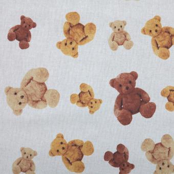 Leinendruck 140cm Teddybären