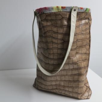 Deko-Artikel Tasche Leder Kakteen