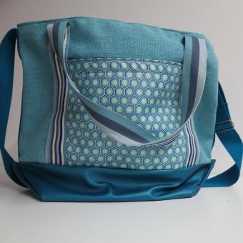 Deko-Artikel Tasche blau